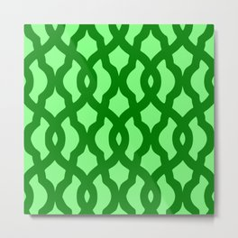 Grille No. 2 -- Lime Metal Print