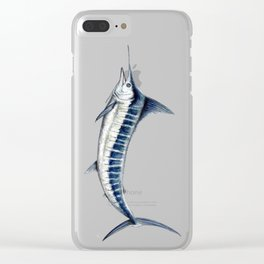 Blue Marlin (Makaira nigricans) Clear iPhone Case