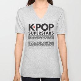 KPOP Superstars Original Boy Groups Merchandse Unisex V-Neck