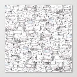 Bathtubs Canvas Print
