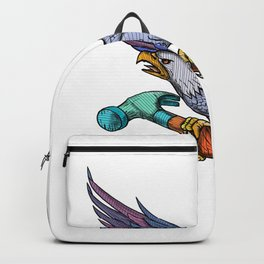Eagle Clutching Hammer Mandala Backpack