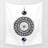 dreamcatcher Wall Tapestries featuring DreamCatcher by HaleySayersArt