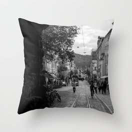 Streets of Freiburg Throw Pillow