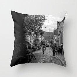 Streets of Freiburg Throw Pillow