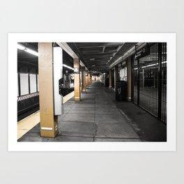 NY underground Art Print
