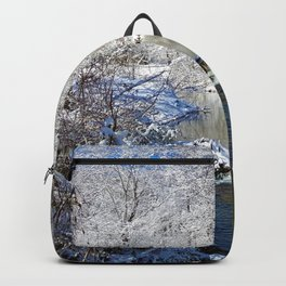Pacolet River In Snow Backpack