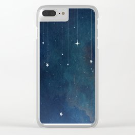 Hanging Stars Clear iPhone Case