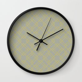 Simply Mod Diamond Mod Yellow on Retro Gray Wall Clock