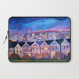 San Francisco - Painted Ladies - Alamo Sq Laptop Sleeve