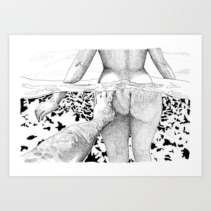 The Swim Art Print