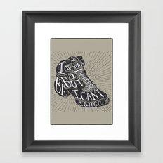 I can't dance Framed Art Print