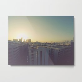 Sunrise on Dubai Skyline Metal Print