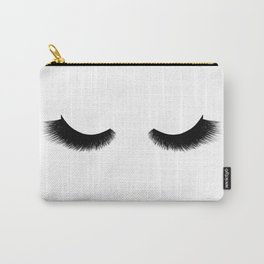 black and white eyelashes Carry-All Pouch