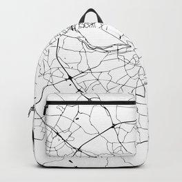 White on Black Dublin Street Map Backpack