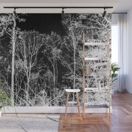 Black and white tree photography - Watercolor series #9 Wall Mural