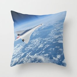 Concorde - Earth Curvature Throw Pillow