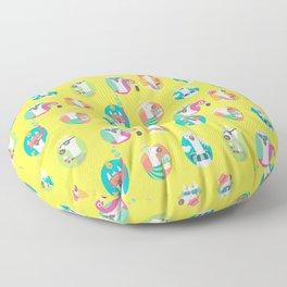 Summer llama Floor Pillow
