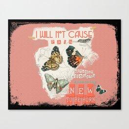 ISAIAH 66:9  Abstract Scripture Collage Art Butterflies Bible Verse Canvas Print