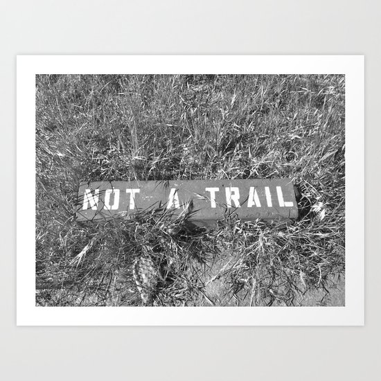 Not a Trail Art Print