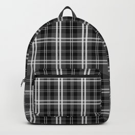 Black and White Mayzes Tartan Plaid Check Backpack