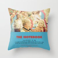 notebook Throw Pillows featuring The Notebook - Nick Cassavetes by Smart Store