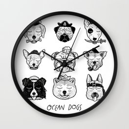 Ocean Dogs Wall Clock