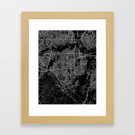 Arlington map Texas Framed Art Print