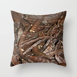 Harvested Carob Pods - Haripur Throw Pillow
