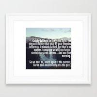 gatsby Framed Art Prints featuring Gatsby by Alicia Gomez