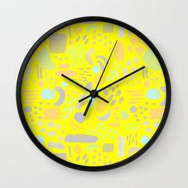 Dancing shapes Wall Clock
