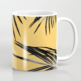 Black Palm Leaves Dream #6 #tropical #decor #art #society6 Coffee Mug