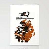 camus Stationery Cards featuring Albert Camus print by Adam Juresko