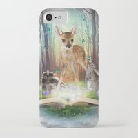 roald dahl iPhone & iPod Cases featuring Believe In Magic • (Bambi Forest Friends Come to Life) by soaring anchor designs