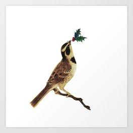 ChristmasBird Art Print