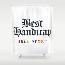 Best Handicap + Navy Shower Curtain