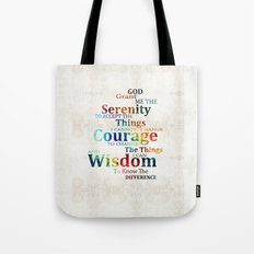 Colorful Serenity Prayer by Sharon Cummings Tote Bag