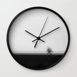 Lonely Tree High Res Black and White Landscape Photography Wall Clock