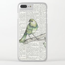 Green Is Cool Clear iPhone Case