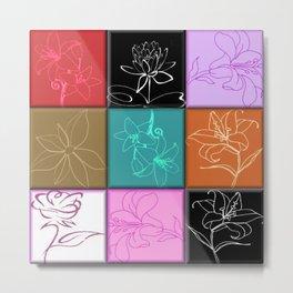 Lily Squares Metal Print