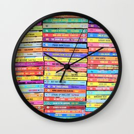 Bookworm - Vintage Harlequin Romance Wall Clock