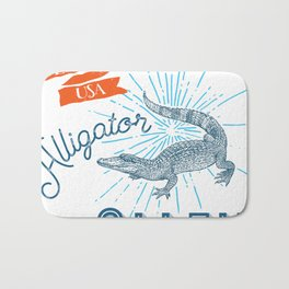 Alligator Alley Swamp Sanctuary Florida Bath Mat