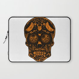 Strongman Sugar Skull, Dia De Los Deadlift Laptop Sleeve