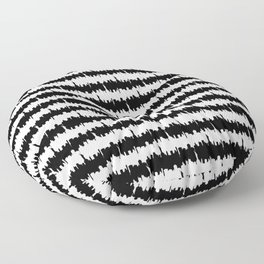 Black and White Stripes NYC Skyline Floor Pillow