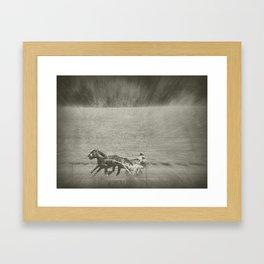 Harness Racing Faux Vintage Framed Art Print