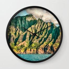 2016 Na' Pali Coast, Kauai, Hawaii Wall Clock