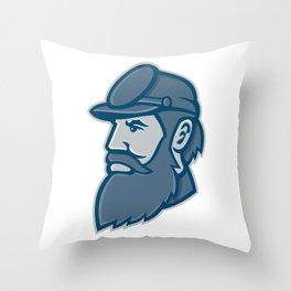 General Stonewall Jackson Mascot Throw Pillow