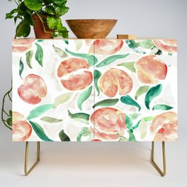 Watercolor Peaches Credenza