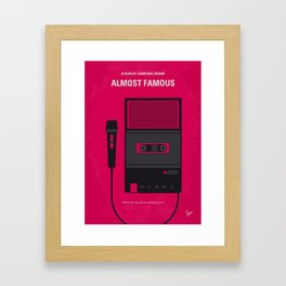 No781 My Almost Famous minimal movie poster Framed Art Print