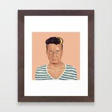 The Israeli Hipster leaders -  Yitzhak Rabin Framed Art Print