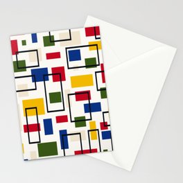 Retro Bauhaus Vector Background Stationery Cards